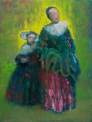 Mother and Daughter Classical Contemporary Art Original Painting Pojani ipalbus $1200.00