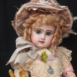 Antique EMILE JUMEAU Biscue Doll 1880s Closed Mouth 27.2