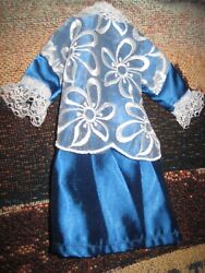 Vintage Handmade Victorian Style Barbie doll sized outfit skirt long jacket $3.75