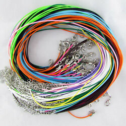 50PCS 18 inch Bulk Lot Suede Leather String Pendent Necklace Cords Rope Straps
