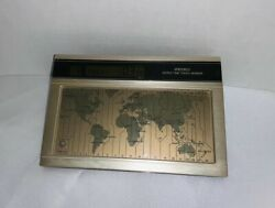 Seiko World Time Touch Sensor Desk Clock- Tested 27 Time Zones Complete! Nice $29.99