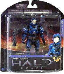 Halo Reach Series 5 Spartan Security Exclusive Action Figure [Blue Loose]