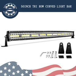Tri Row 50inch Curved LED Light Bar Spot Flood 1170W Driving Offroad 4WD ATV 52quot; $67.59