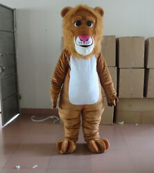 Xmas The Suit of Animals Brown the Lion Mascot Costume Brown Parade Cosplay Suit