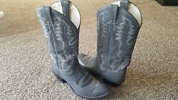Vintage Justin Boots Exotic Gray Size 10 D Style 1278 Cowboy Gently Worn
