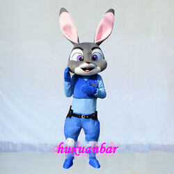New judy hopps rabbit zootopia mascot costume Adult size party Dress Anime gift