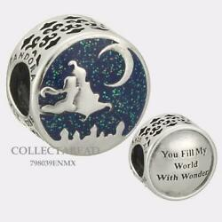 AUTHENTIC Pandora Silver Disney Magic Carpet Ride Enamel Bead 798039ENMX *NWT