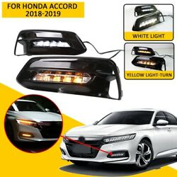 Set of 2 Front Bumper LED Fog Light  Assembly(DRL)For Honda Accord 2018-2019 Hot