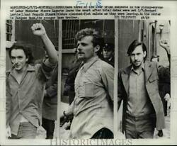 1971 Press Photo Suspects in the kipnap murder of Pierre Laporte leave court