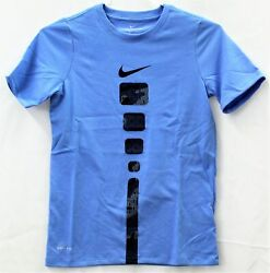 Nike Graphic Blue T Shirt Big Boys Size S $15.00