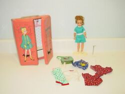 Vintage Ideal Pepper Doll Tammy's Little Sister and Case with Accessories