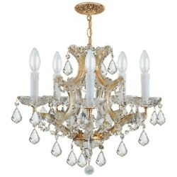 Crystorama Traditional Maria Theresa Chandelier Crystal Spectra 4405-GD-CL-SAQ $707.00