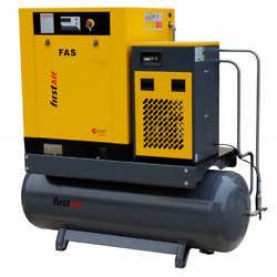First Air FAS7U 10-HP 53-Gallon Rotary Screw Air Compressor wDryer (460V 3-P... $6,706.00