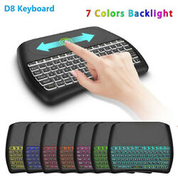 Backlight D8 Plus i8 English Keyboard Air Mouse Touchpad Controller for Android