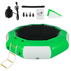 10Ft Inflatable Water Trampoline Jump Floated Water Bounce Platform w Ladder $382.97