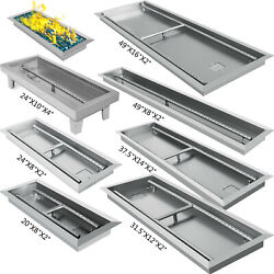 Linear Trough Drop-In Fire Pit Pan Natural Gas +Burner 202425.531.537.549