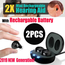 Rechargeable Hearing Aids In the Ear Amplifier Assist Mini Set! 2019 Generation!