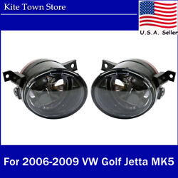 Pair of Aftermarket Front Fog Lights Lamp Left+Right For VW Golf Jetta MK5 06-09 $27.99