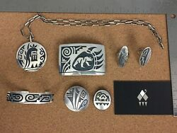 Vintage Hopi Saufkie Sterling Silver Lot 1 - Sold Individually on Request