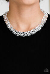 Paparazzi Jewelry ~Put It On Ice -White~ Necklace NWT! New Release RARE Gorgeous