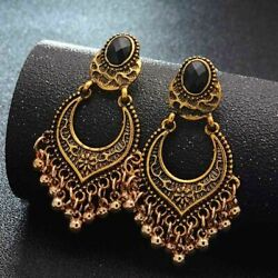 2019 Indian Ethnic Bollywood Women Gold Bohemian Vintage Drop Antique Earrings