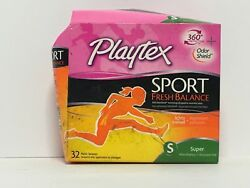 PLAYTEX SPORT FRESH BALANCE LIGHTLY SCENTED PLASTIC TAMPONS 32CT FREE SHIPPING