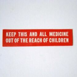 KEEP OUT OF REACH CHILD Antique Pharmacy Drug Store Medicine Bottle Label - New