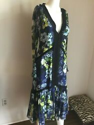 NWT ERDEM Gorgeous Silk Lace 2019 RUNWAY Dress UK 8 US 46 $2250 PRISTINE