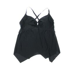 NEW SWIMSUITS FOR ALL Women#x27;s TRIANGLE STYLE Black TANKINI TOP 16 $14.97