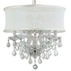 Crystorama Brentwood Maria Theresa Chandelier Crystal Spectra 4415-CH-SMW-CLQ $1,404.99