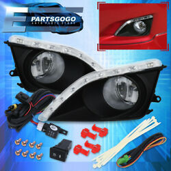 For 09-10 Toyota Corolla LED DRL Fog Lights Lamps Assembly w Wiring Harness Kit $53.99