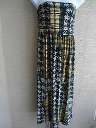 NWT MLLE GABRIELLE POLYSPANDEX RUCHED FRONT STRPLESS MAXI DRESS  1X