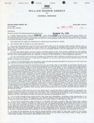 NATALIE WOOD - CONTRACT SIGNED 05141963