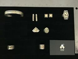 Vintage Southwestern Sterling Silver Gold Lot 1 - Sold Individually on Req.