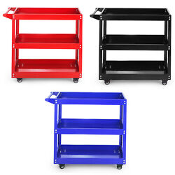 3 Tier Heavy Duty Workshop Garage Mechanic Utility Trolley Service Tool Cart EK