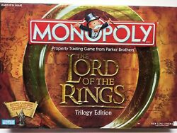 Lord of the Rings Monopoly: Trilogy Edition: Board Game: Ages 8+ 2-6 Players