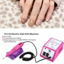 Electric Nail Drill Machine Nail Grinder Polisher Manicure Pedicure Tools BN