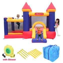 Inflatable Bounce House 2 Room Kids Slide Jumper Castle Blower with Carrying Bag