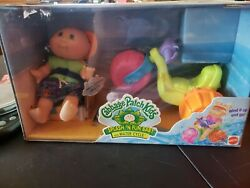 1997 Cabbage Patch Kids Splash 'N Fun Baby Water Cycle & Seal Friend Bald 8.5 in