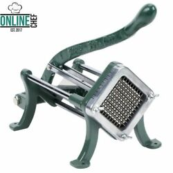 1 4quot; Green Countertop Cast Iron French Fry Cutter Potato Slicer Restaurant Home $55.24