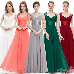 Ever Pretty US Long Formal Cocktail Dresses Chiffon Evening Gown Party Gown 9672 $12.99
