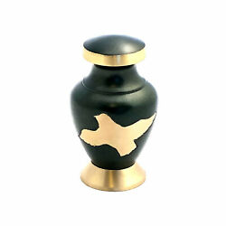 Well Lived® Small Brass Green Birds Keepsake Cremation Urn for human ashes $19.95