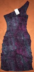 Hamp;M Women's Purple Elegant Evening Classy Cocktail Sexy Party Dress XS NWT $25 $17.98