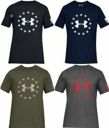 Under Armour 1333351 Men#x27;s Athletic UA Freedom Logo T Shirt Short Sleeve Tee $22.99