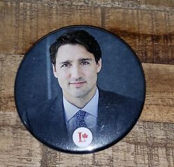 JUSTIN TRUDEAU Authentic Liberal Party of Canada Button Pin C $29.99