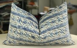 ONE MARIANO FORTUNY BLUE & ANTIQUE WHITE