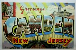 Unused Greetings From Camden New Jersey Postcard $1.99