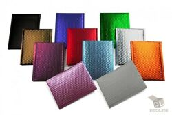 Any Size Color MATTE METALLIC Poly Bubble Mailers Mailing Padded Envelopes $8.25