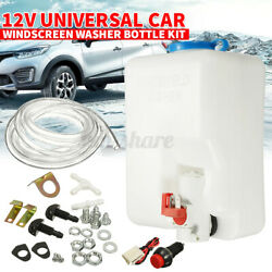 12V Universal Washer Tank Pump Bottle Set Kit Windshield Wiper Systems