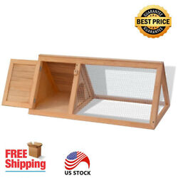 A-Frame Style Outdoor Wooden Rabbit Cage Chicken Coop Small Animal Hutch